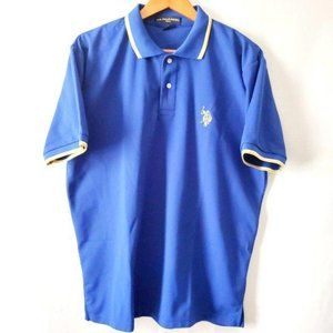 U.S. POLO Assn. Men's Royal Blue Golf Shirt Size L